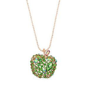 🍏Betsey Johnson Fruity Petals green apple pendant